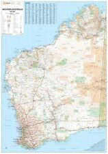 WESTERN AUSTRALIA STATE SUPER MAP (LAMINATED) POSTER (140x100cm) FREE SHIPPING