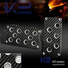 JDM REAL CARBON FIBER WRAP CF ALUMINUM AUTO TRANS AT RACING PEDAL
