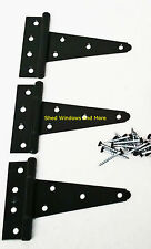 "5"" Heavy Duty Shed Hinges (set of 3) Shed Barn Door Playhouse Treehouse Windows"
