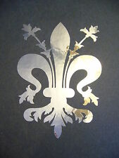 Fleur De Lis flower lily ~ chrome #1 vinyl window laptop decal bumper sticker 5""