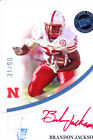 brandon jackson rookie rc draft auto nebraska huskers red ink sp college #/50