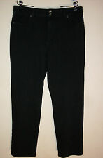 Coldwater Creek 16P Black Stretch Jeans Classic Fit Straight Leg