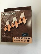 CORTLAND 444 INTERMEDIATE SHOOTING TAPER  ST8I FLY LINE  MSRP $25.00
