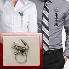 Coccodrillo r117 Peltro Perno SPILLA DROP Hoop titolare per occhiali, penne, gioielli