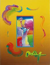 "PETER MAX ""STATUE OF LIBERTY"" (OVERPAINT) 2010 