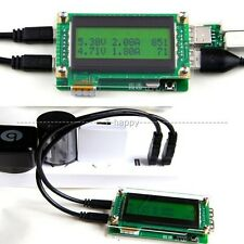 LCD Dual USB Charger Doctor Capacity time Current Voltage Detector Battery Meter