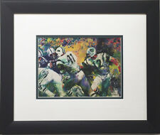 "LeRoy Neiman ""Handoff Super Bowl III"" CUSTOM FRAMED  NY JETS Broadway Joe NAMATH"