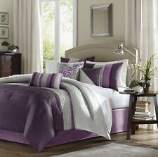 Luxury Madison Park 7-Piece Comforter Set Bed in a Bag Queen Size Bedding Purple