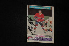 HOF GUY LAPOINTE 1977-78 O-PEE-CHEE SIGNED AUTOGRAPHED CARD #60 CANADIENS