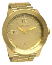 Nixon A346502 Corporal SS All Gold Dial Stainless Steel Bracelet Watch New