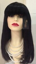 Brazillian Hair full head Wig Fringe / Razor cut 1B
