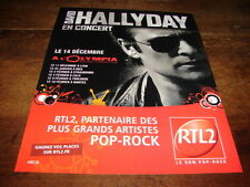 DAVID HALLYDAY - PUBLICITE DATES CONCERT - OLYMPIA DEC
