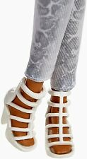 2015 Barbie Shoes Glam Luxe Style Nikki Doll White Strappy Heels Fit Model Muse