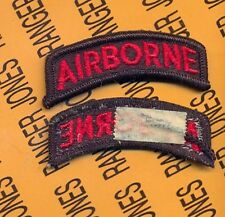 US ARMY AIRBORNE TAB BLACK & RED patch m/e
