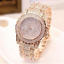 Luxury Women's Stainless Steel Watch Rhinestone Crystal Quartz Lady Dress Watch