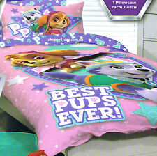 Paw Patrol - Best Pups Ever pink- Single/US Twin Bed Quilt Doona Duvet Cover set