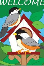 Bird House Welcome - House Size Flag TG 05030