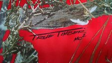 """HUNTING CAMO TRUE TIMBER MC2 RED FABRIC 58""""WIDE BRIDAL SATIN CAMOUFLAGE"""