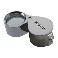 30X Glass Magnifying Magnifier Jeweler Eye Jewelry Loupe Loop F5