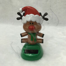 Cute Solar Powered Dancing Santa  Reindeer Stage Bobble Toy Home Office Decor