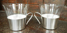 Pair of Vintage French Cafe Tissane / Tea / Coffee Glasses