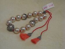 Betsey Johnson 'Betsey's Boat House' Pearl Sea Coral Necklace - NWT Beautiful!