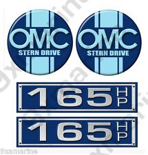 OMC Stringer Stern Drive Two Round Decal Set