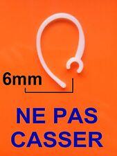 Contour d'oreille Oreillette Crochet casque 6mm Bluetooth Ecouters Headset