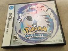 Pokemon Soul Silver Version Game in original case w/ manual Nintendo DS
