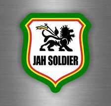 Sticker car decal rasta reggae JAH macbook lion of judah one love rastafarai r5