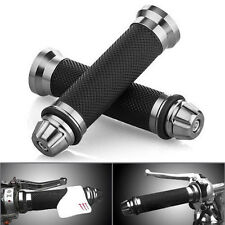 New Aluminum Motorcycle 22mm Handle Bar Rubber Gel Hand Grips CNC Bar End 7/8""