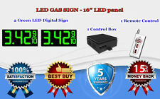 "2 x 16"" Green LED Gas Price Changer Panel - Digital Signs 5 Years Warranty"
