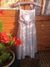VERY PRETTY SILK FLOWER DRESS, BY TIGER LILY, LIGHT PINK, NEW WITH TAGS, AGE 12.