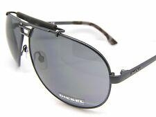 Stunning Diesel Sunglasses DL0027/S 02A Dark Grey Metal Aviator Accessory New