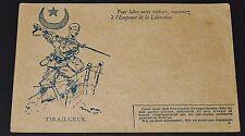RARE CPA 1916 GUERRE 14-18 TIRAILLEUR ALGERIE EMPRUNT DE LA LIBERATION