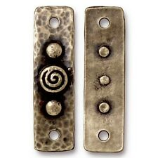 TierraCast Antique Bronze Spiral and Rivets Connector Link (2) #5482