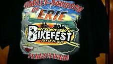 Official Harley Davidson Of Erie PA 1st Annual Bike Fest T Shirt XL July 2013