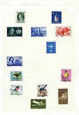 4 pages of 20th century Australia stamps