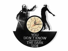 "NEW Vinyl Record Wall Clock ""Star Wars Dark Side"", modern, decorative art ~12"""