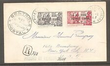 LETTRE COVER SAINT PIERRE ET MIQUELON SPM TO USA FRANCE LIBRE FNFL 1943