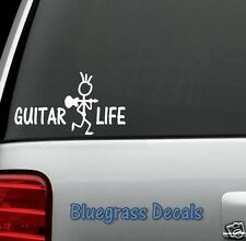 D1065 GUITAR LIFE Decal Sticker for Car Truck SUV Van Laptop Mac Wall Surface
