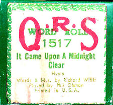 QRS Holiday Roll IT CAME UPON A MIDNIGHT CLEAR 1517 Ohman Player Piano Roll