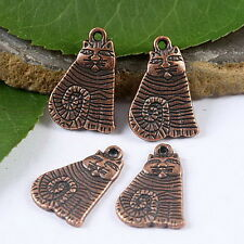 "10pcs antiqued copper tone ""carfield"" cat design charms H1913"