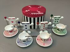 Re-ment dollhouse miniature Alice in Wonderland tea party tableware 2006