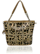 100% Real Leather Leopard Handbag