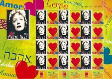 ISRAEL  2015 EDITH PIAF FRENCH SINGER SHEET 100th BIRTHDAY MNH