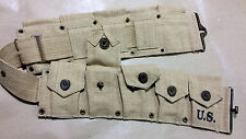 WWII US M1 Garand Cartridge Belt (10 Pocket) - Repro