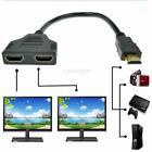 1080P HDMI Port Male to 2x Female Splitter Cable Adapter Converter 1 In 2 Out