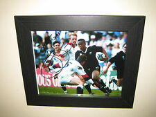 Jonah Lomu - New Zealand Rugby Union Player Signed Photo (8x10) Framed