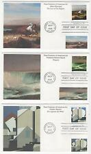 US FDC 1998 4 Centuries of American Art 3 Covers Bierstadt by Mystic |